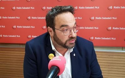 Juli Fernàndez als estudis de Ràdio Sabadell aquest matí