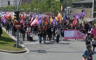 La manifestació al seu pas per l'Eix Macià | Roger Benet