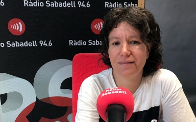 Marta Morell als estudis de Ràdio Sabadell
