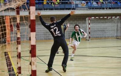 Martí Escuert en una imatge del partit de lliga jugat fa un mes a Mataró | Èric Altimis - OAR Gràcia