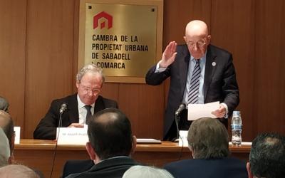 Antoni Quintana durant la presa de possessió com a president | Cedida
