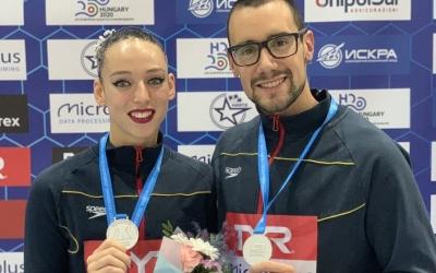 La parella formada per Garcia i Ribes ha guanyat dos metalls d'argent a Rússia | Twitter