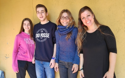 Núria Macià, Roger Miralles, Ingrid Filella i Mireia Núñez a Ràdio Sabadell | Pau Duran