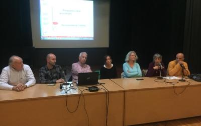 D'esquerra a dreta, Gallardo, Hernández, Farrés, Baré, Merino i Berlanga| Ràdio Sabadell