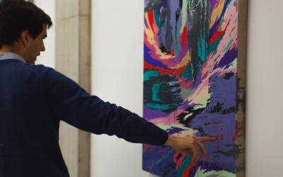 Gerard Torres a la seva exposició | Cedida
