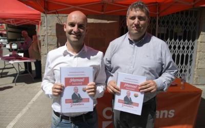 Adrián Hernández i Jose Luís Fernández amb el programa de Ciutadans | Roger Benet