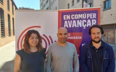 Alejandra Sandoval, Joan Berlanga i Edu Navarro, a la Biblioteca Vapor Badia | Pere Gallifa