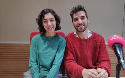 Alba Grau i Xavi Clapés als estudis de Ràdio Sabadell | Pau Duran