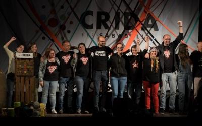 Escenari final de l'acte central de la Crida per Sabadell   Roger Benet