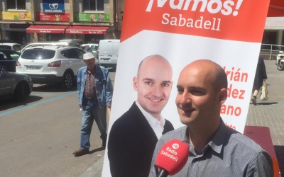Hernández davant de la carpa aquest matí | Ràdio Sabadell