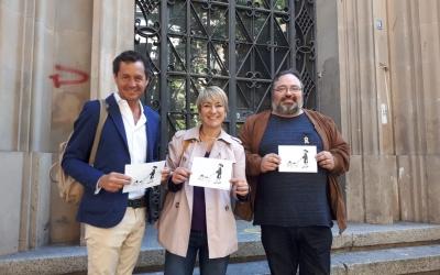 Junts per Sabadell, amb un tríptic de mesures de comerç que inclou un dibuix de l'artista Ramiro Fernández/ Ràdio Sabadell