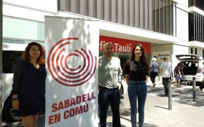 Alejandra Sandoval, Joan Berlanga i Elena Hinojo a l'Hospital Taulí