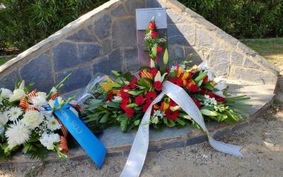 Monument a les víctimes del terrorisme a la plaça Ernest Lluch del Parc Catalunya | Pau Duran
