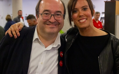 Farrés i Iceta, després de l'acte de tancament de campanya | PSC Sabadell