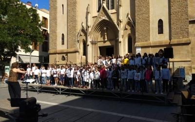 Els nens i nenes en un moment del concert | Helena Molist