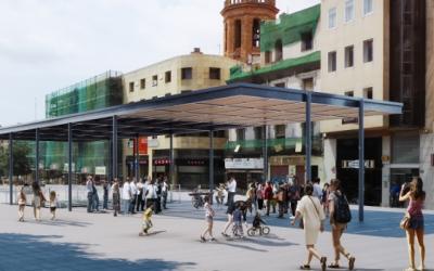 Projecció de com quedaria l'umbracle un cop finalitzada la construcció | Ajuntament de Sabadell