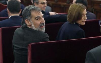 Jordi Cuixart i Carme Forcadell, en una imatge d'arxiu al TS | ACN