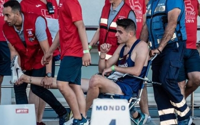 Una cruel caiguda va impedir a Alexis Rodríguez acabar la cursa dels 3000 obstacles. | Sportmedia