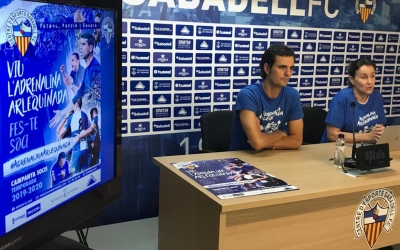 Bruno Batlle i Ana Navés presentant la campanya de socis d'aquesta temporada | Adrián Arroyo