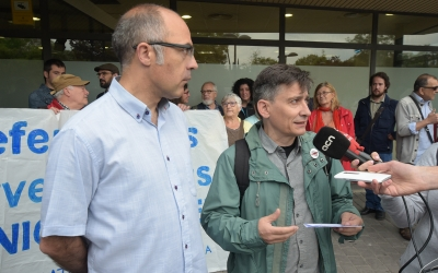 Xavi Guerrero (esquerra) i Lluís Perarnau (dreta) quan van haver de declarar | Roger Benet