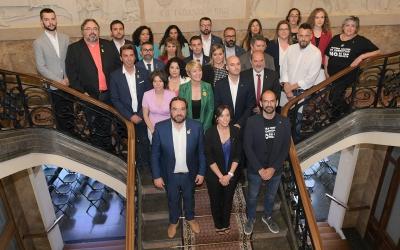 Fotografia de tots els regidors de la corporació | Roger Benet