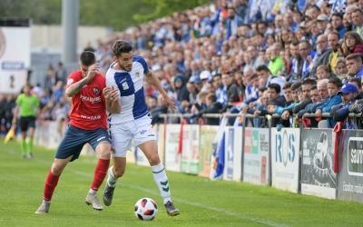 Querol, en el darrer partit de lliga a Olot | Roger Benet