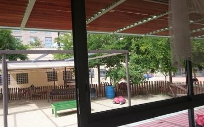 Imatge del pati de l'Escola Bressol municipal Creu Alta | Ajuntament de Sabadell