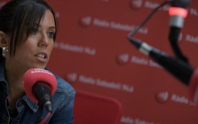 L'alcaldessa de Sabadell, Marta Farrés, dilluns a l'estudi 1 de Ràdio Sabadell | Roger Benet
