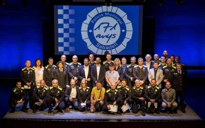 Foto de família dels premiats   Berta Tiana / Ajuntament de Sabadell