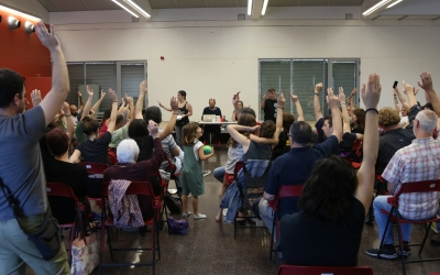 La militància cridaire, reunida dissabte en assemblea a la sala polivalent del Nord | Crida per Sabadell