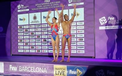 Emma Garcia i Pau Ribes durant la World Series de Barcelona | FCN