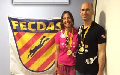 Paqui Serra i Marc Pedrals es van proclamar campions de Catalunya de vídeo subaquàtic. | FECDAS