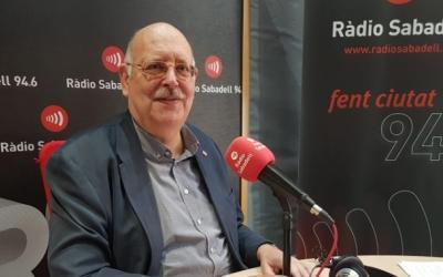 Josep Masip, als estudis de Ràdio Sabadell | Arxiu