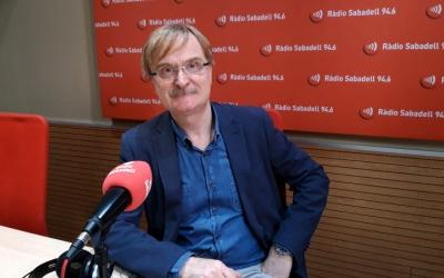 Joan Valls, als estudis de Ràdio Sabadell/ Núria Garcia