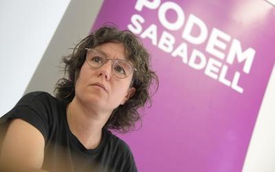 Marta Morell, durant la roda de premsa de presentació del Pacte de la Concòrdia/ Roger Benet