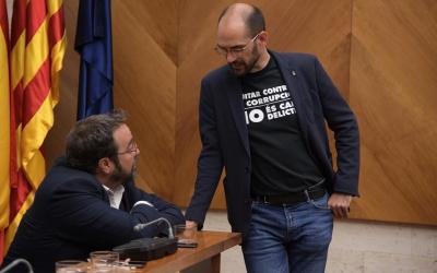 Maties Serracant i Juli Fernàndez, al Ple de Comiat d'ahir | Roger Benet