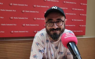 Nando Caballero, als estudis de Ràdio Sabadell/ Raquel Garcia