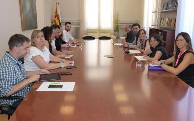 El nou govern, durant la seva primera reunió oficial/ Roger Benet