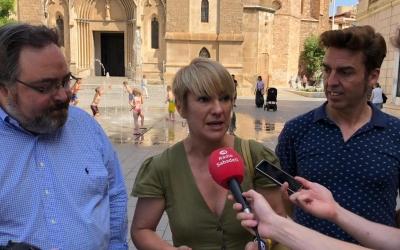 El grup de Junts per Sabadell durant la roda de premsa | Cedida