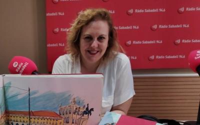 Mireia Gubianas als estudis de Ràdio Sabadell |Pau Duran