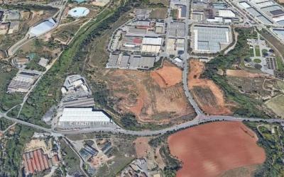 Imatge aèria del polígon industrial de Can Roqueta | Cedida