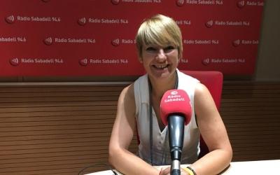 Lourdes Ciuró, als estudis de Ràdio Sabadell/ Mireia Sans