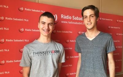 Bernat Payà i Enric Garriga, els estudis de Ràdio Sabadell | Mireia Sans