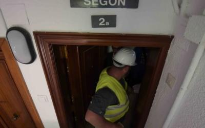 Un dels pisos apuntalats als Merinals | Roger Benet