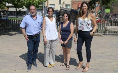 L'equip de Marta Farrés a la plaça del Pi/ Roger Benet