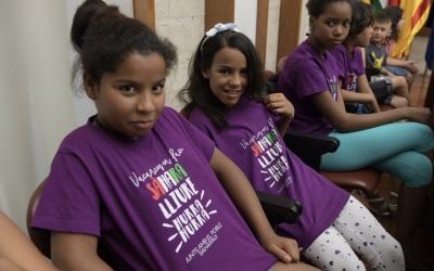 Els nens i nenes sahrauís al ple municipal | Roger Benet