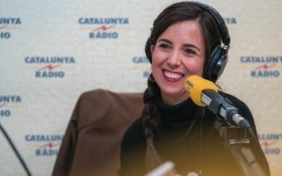 La periodista sabadellenca Laura Rosel als estudis de Catalunya Ràdio | Cedida