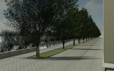 Imatge de com quedarà el carrer de l'Onyar un cop acabades les obres | Cedida