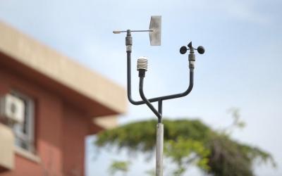 Element de l'estació mesuradora de contaminació de la carretera de Prats/ Roger Benet