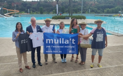 Representants de l'Ajuntament i de les entitats presentant el Mulla't | Pere Gallifa